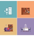 Interior Design Types Set vector image