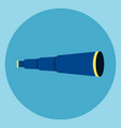 spyglass icon business foresight concept vector image