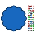 Stamp Shape Symbol With Toolbar Icon Set vector image