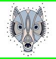 wolf geometric vector image