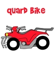 Quard bike of art vector image