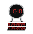 stylish digital clock vector image vector image