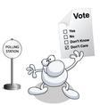 man vote vector image