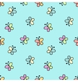 seamless baby pattern blue vector image