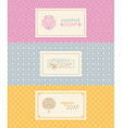 Soap packaging and wrapping paper vector image vector image
