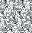 Seamless floral doodle background pattern in with vector image