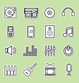 line music icon vector image