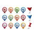 gps icons vector image vector image