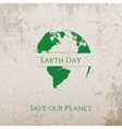 Earth Day green Print on Concrete Banner Template vector image