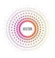 Abstract colorful halftone dots circle vector image