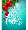 Christmas design template vector image