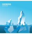 Iceberg under and above water vector image