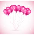 pink hearts ballons vector image