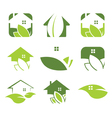 Set of ecological house icon vector image