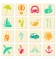 Travel summer icons vector image