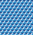 3d scallop seamless pattern vector image vector image