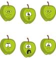 Emotion green apple set vector image