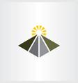 road travel logo icon element vector image