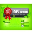 Red award banner on green vector image vector image