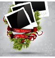 Christmas design with photos vector image vector image
