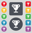 Winner cup Awarding of winners Trophy icon sign A vector image
