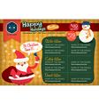 Christmas restaurant menu template vector image