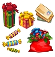 Christmas a set of gifts and letters to Santa vector image