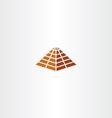 pyramid icon sign element symbol vector image