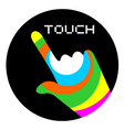 art touch icon vector image