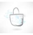 Bag grunge icon vector image