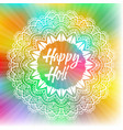 colourful holi festival background vector image