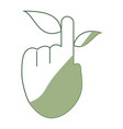 hand cursor with leaf vector image