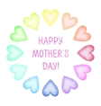 Hand painted Mothers Day card vector image