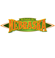 Nebraska The Cornhusker State vector image