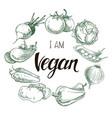 vegan vector image