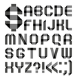 Font from a paper transparent tape - Alphabet vector image vector image