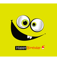 Happy Birthday smile vector image