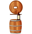 Red wine and wooden barrels vector image