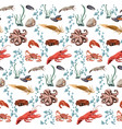 sea and ocean animals seamless pattern vector image