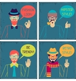 Hipster cards in retro style vector image vector image