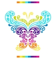 Butterfly in shape of abstract splashes drops vector image vector image