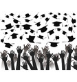 hands celebrating graduation vector image vector image