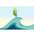 sea windsurfing vector image