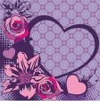 floral vector heart vector image vector image