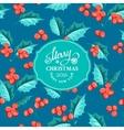 Mistletoe holiday card vector image vector image