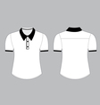 Blank shirt with shot sleeves template vector image