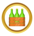 Box of beer icon vector image