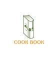 cook book design template vector image