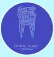 dental clinic tooth logo vector image
