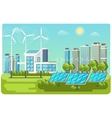 Green energy urban landscape vector image